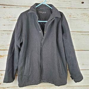 Perry Ellis Portfolio Wool Blend Coat
